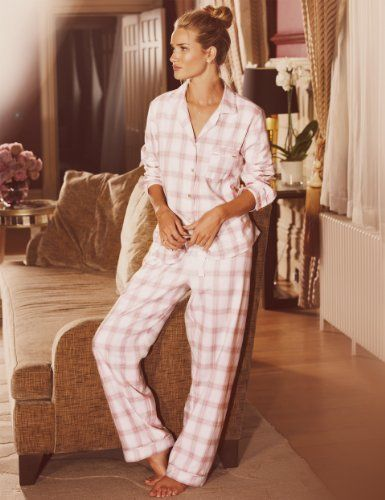 Rosie for Autograph Luxury Woven Checked Revere Pyjamas £35 click to visit M&S