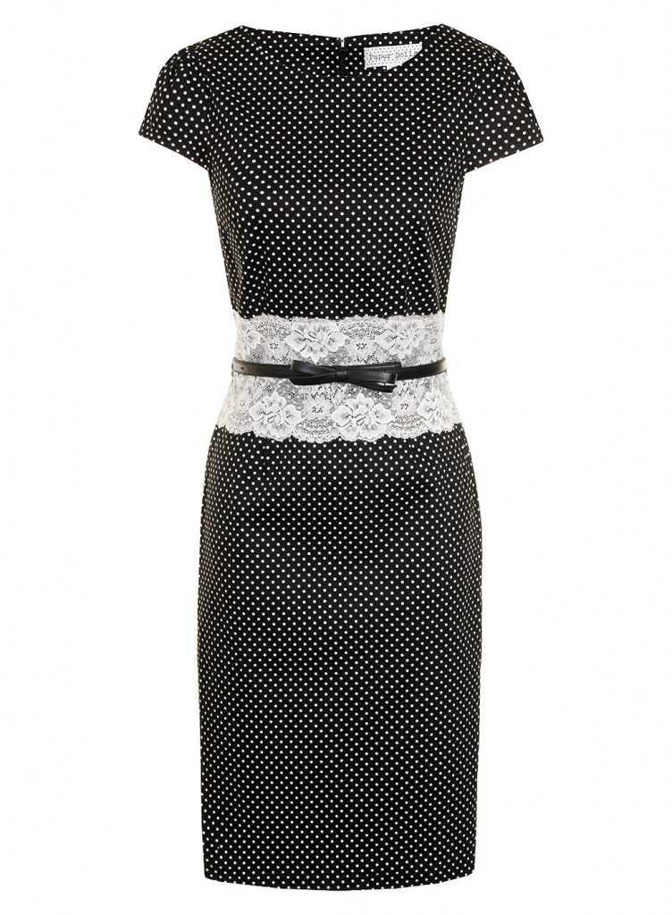 Black+white dot lace dress     Price: £54.00 click to visit Dorothy Perkins