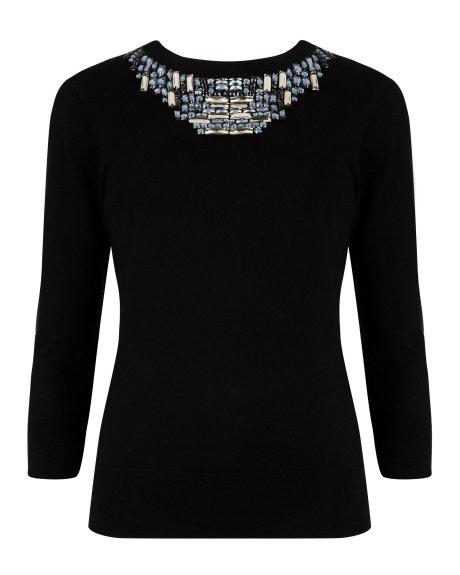 BLITHE Embellished neckline sweater     £149.00 click to visit Ted Baker