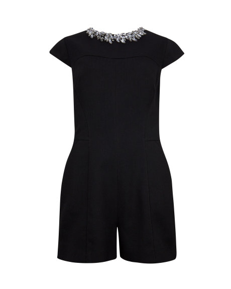 EVELIN Embellished neck playsuit     £169.00 click to visit Ted Baker