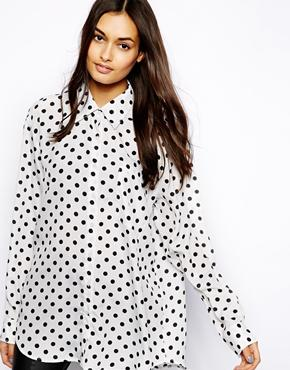Glamorous Oversize Shirt in Polka Dot £24.00 click to visit ASOS