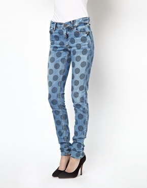 House of Holland Mid Rise Jeans in Polka Dot Spot £140.00 NOW £84.00 Click to visit Asos