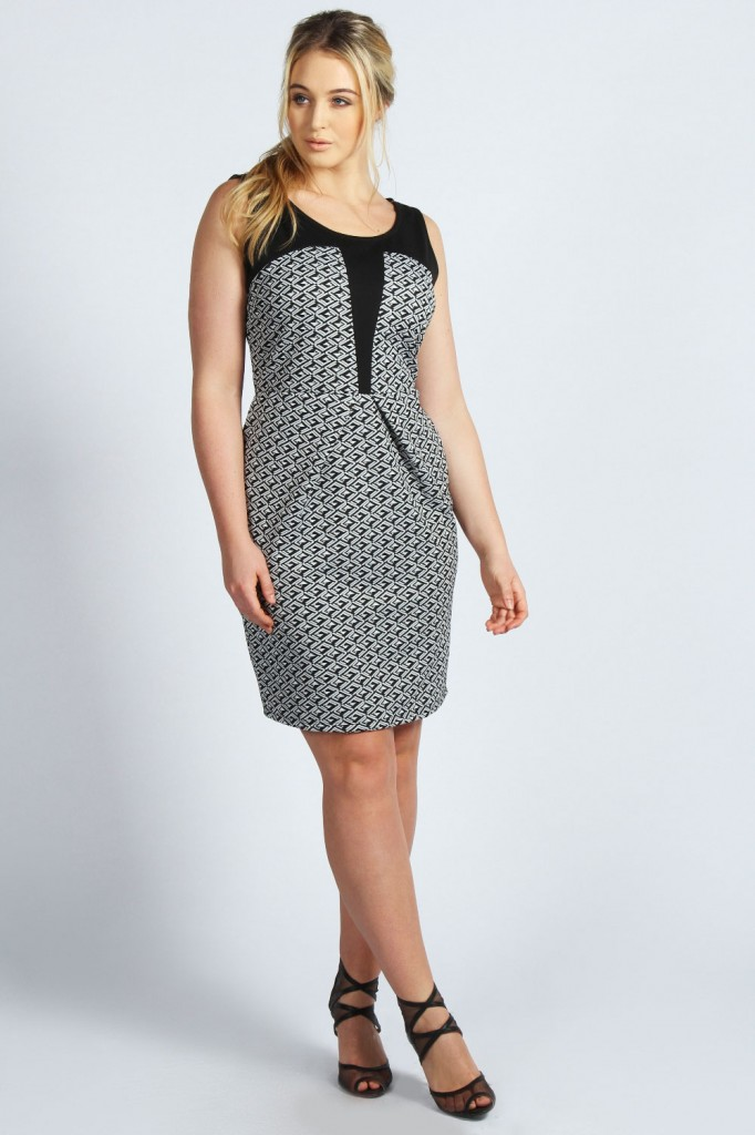 Lydia Geo Jacquard Dress Product code: pzz99957 £20.00 click to visit Boohoo