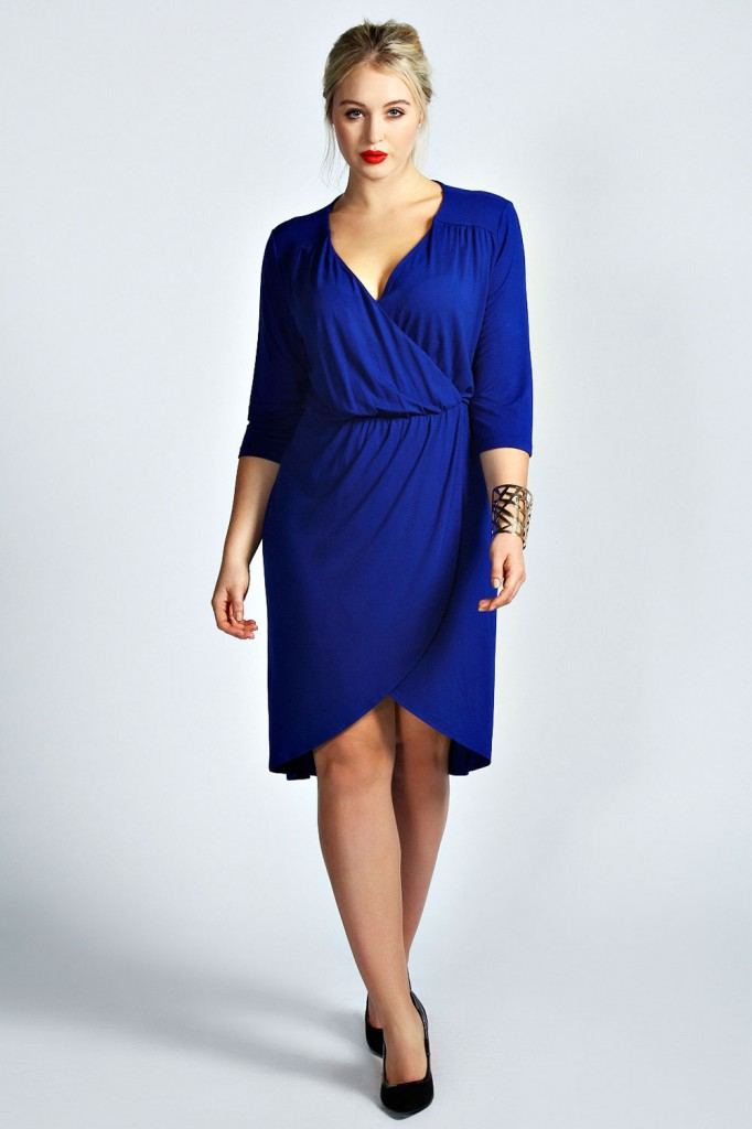 Eden Wrap Front Dress Product code: pzz99963 £20.00 click to visit Boohoo