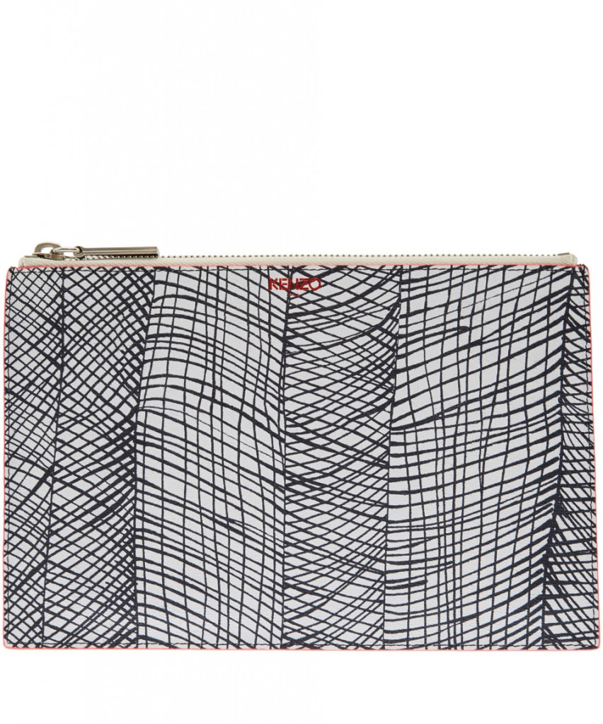 Kenzo White Printed Leather Pouch £135.00 click to visit Liberty London