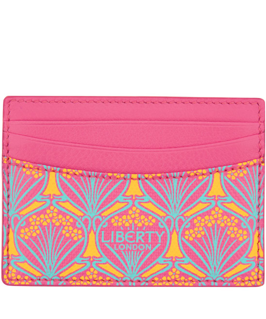 Liberty London Pink Iphis Leather Card Holder £45.00 click to visit Liberty London