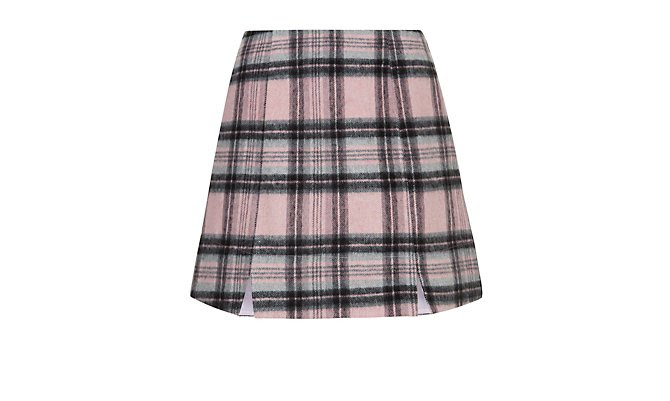Pink Check Notch Mini Skirt  £17.99 click to visit New Look