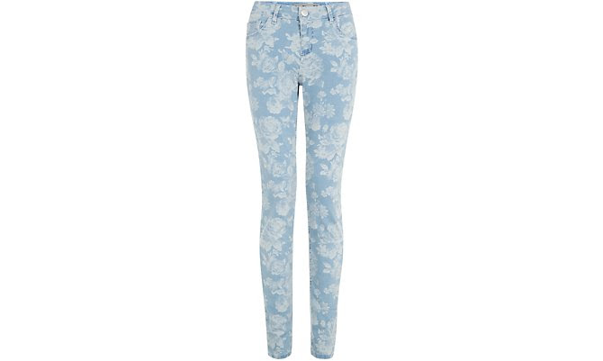 Print Jeans - Blue Floral Print Supersoft Skinny Jeans  £22.99 click to visit New Look