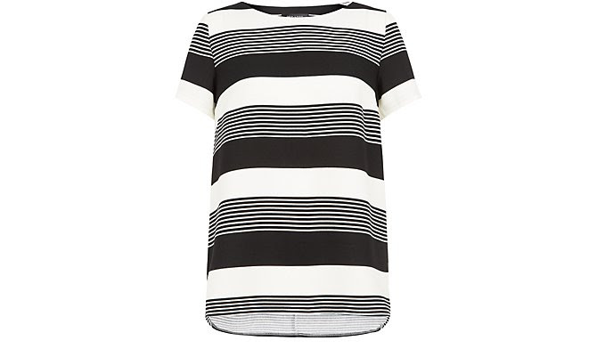 Monochrome Stripe Boxy T-Shirt  £17.99 click to visit New Look