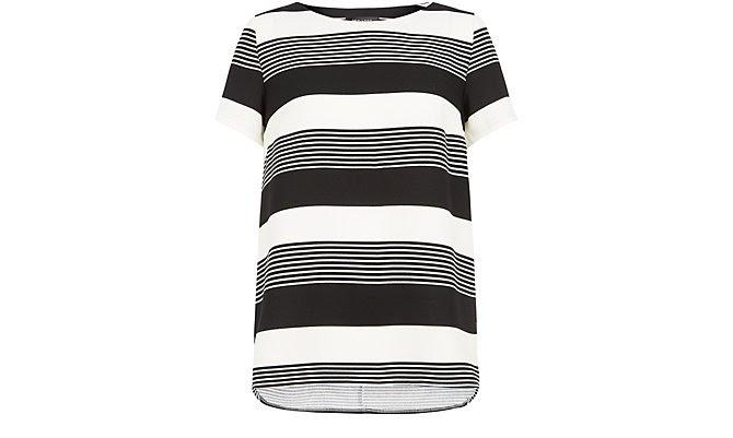 Monochrome Stripe Boxy T-Shirt  £17.99 click to visit New Look