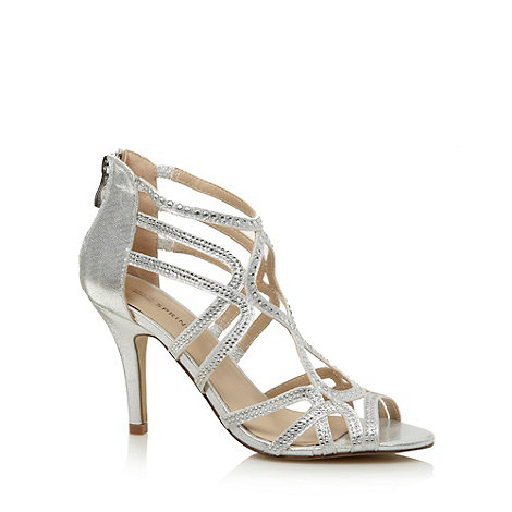 Call It Spring Silver 'Lanese' diamante strappy sandals £45 click to visit Debenhams