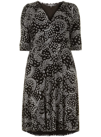 Scarlett & Jo Black Retro Wrap Front Midi Dress     Price: £45.00 click to visit Evans