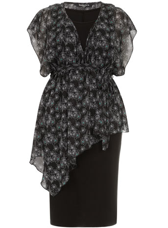 Scarlett & Jo Floral Print Asymmetric 2 piece Midi Dress     Price: £50.00 click to visit Scarlett and Jo