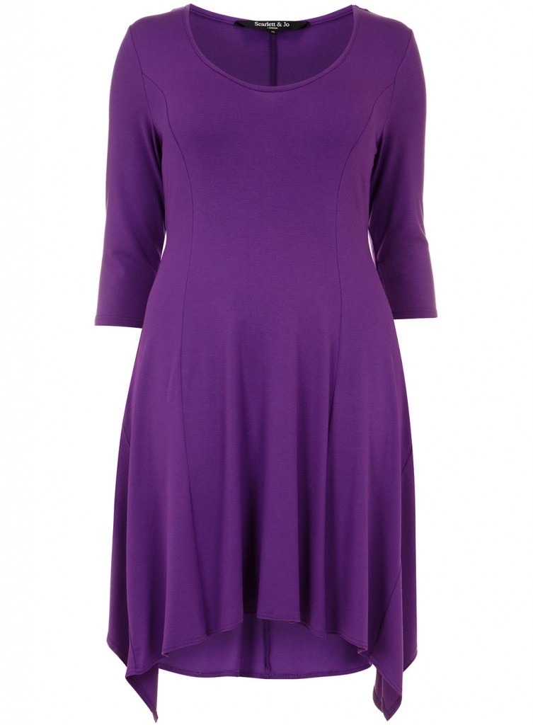Scarlett & Jo Purple Dipped Hem Tunic     Price: £35.00 click to visit Evans
