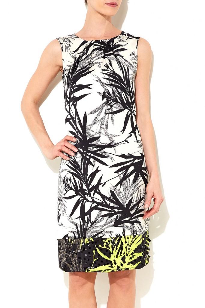 Black Sequin Palm Print Shift Dress     Price: £60.00 click to visit Wallis