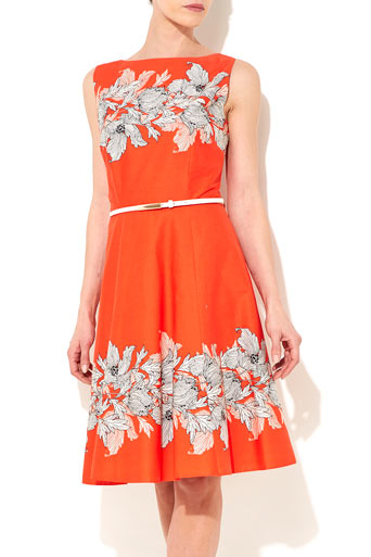 Orange Floral Prom Dress     Price: £49.50 click to visit Wallis