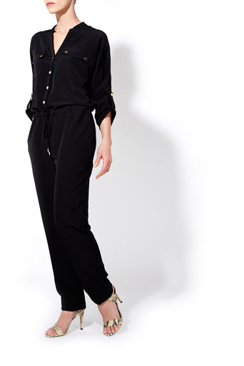 Black Utility Jumpsuit     Price: £65.00 click to visit Wallis