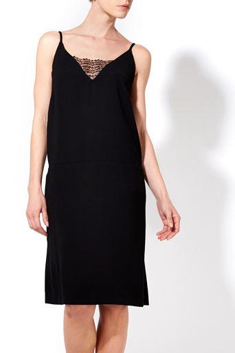Black Lace Insert Dress     Price: £55.00 click to visit Wallis