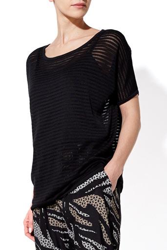 Black Stripe Knitted Top     Price: £26.00 click to visit Wallis