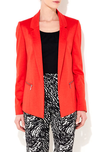 Orange Zip Detail Blazer     Was £40.00     Now £30.00 click to visit Wallis