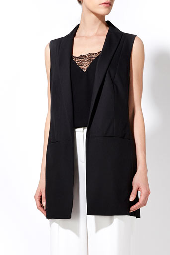 Black Sleeveless Jacket     Price: £55.00 click to visit Wallis