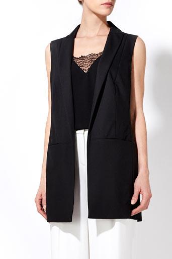 Black Sleeveless Jacket     Price: £55.00 click to visit Wallis
