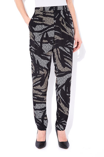 Black Printed Tapered Trousers     Price: £30.00 click to visit Wallis