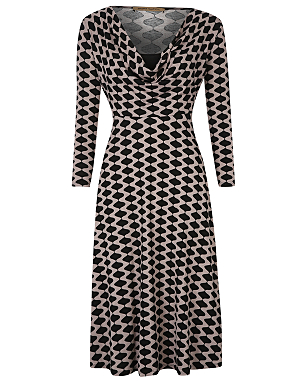 Barbara Hulanicki Cowl Neck Geo Print Dress £18.00 click to visit George at Asda