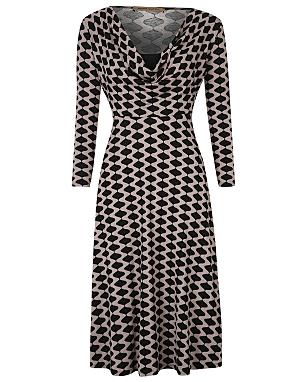 Barbara Hulanicki Cowl Neck Geo Print Dress £18.00 click to visit George at Asda