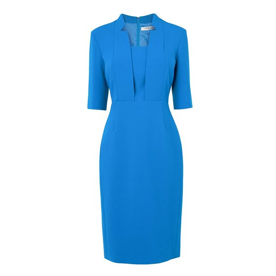Detroit Notch Collar Fitted Dress £225 click to visit LK Bennett