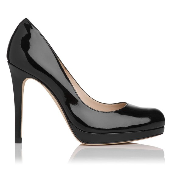 Sledge Patent Leather Platform Court Shoe £195 click to visit LK Bennett