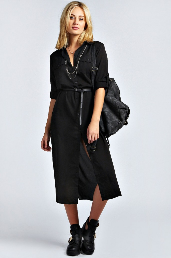 Diana Maxi Belted Shirt Dress £25 click to visit Boohoo