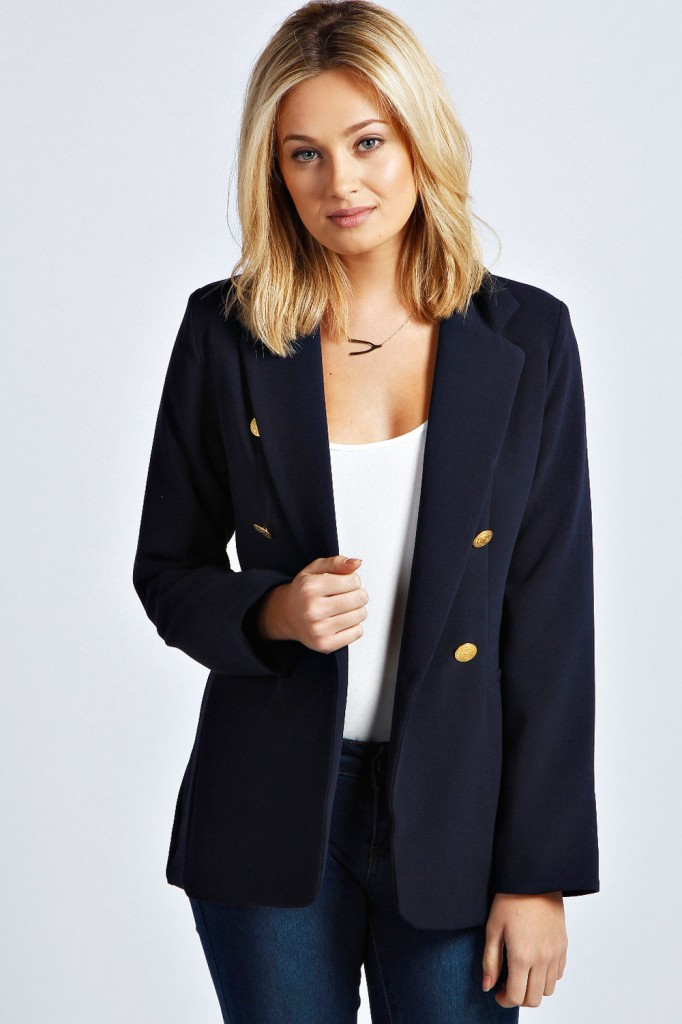 Laura Double Breasted Blazer £25 click to visit Boohoo