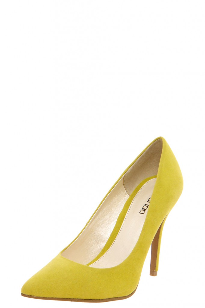Chloe Point Toe Suedette Courts £20 click to visit Boohoo