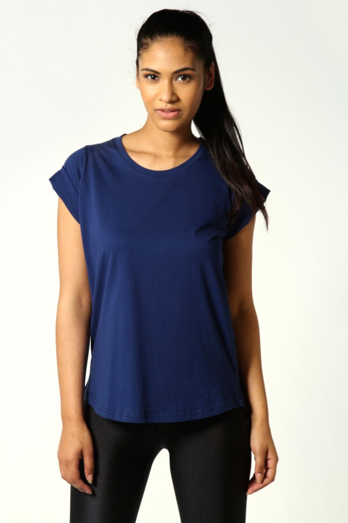 Ria Roll Back Sleeve Jersey T-Shirt £6 click to visit Boohoo