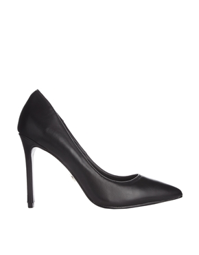 KG by Kurt Geiger Bailey Black Leather Heeled Court Shoes £110.00 click to visit ASOS