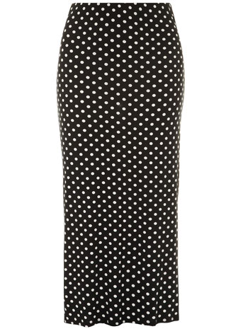 Evans Black And White Spot Print Tube Skirt     Price: £29.50 click to visit Evans
