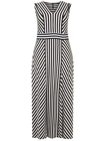Evans Stripe Panel Maxi Dress     Price: £49.50 click to visit Evans