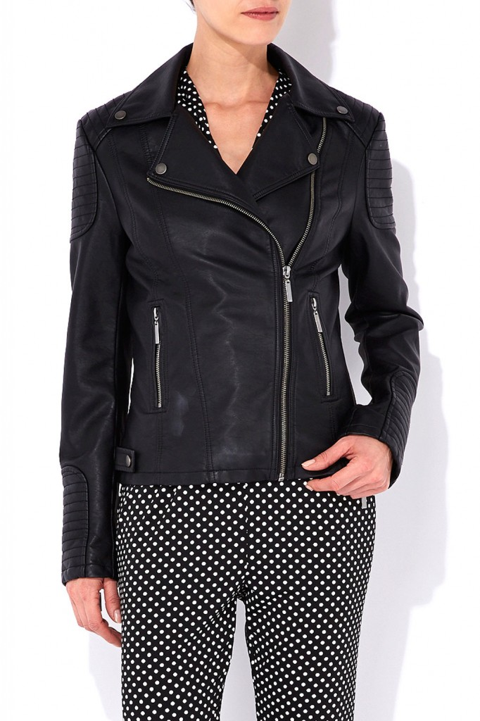 Black Biker Jacket     Price: £58.00 click to visit Wallis