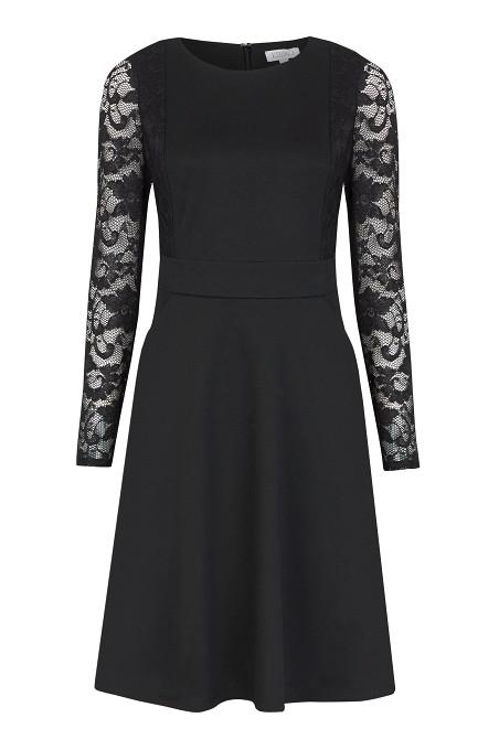 Black Lace Sleeve Skater Dress £79 click to visit Kaliko