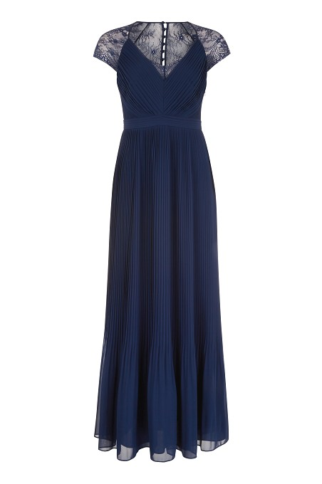 Navy Middleton Pleat Maxi Dress Item No 060/032792/190 / Price £179.00 click to visit Kaliko