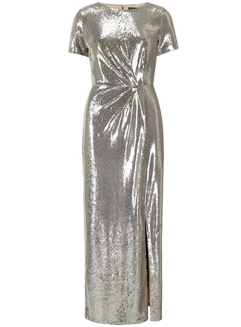 Silver sequin maxi dress     Price: £85.00 click to visit Dorothy Perkins
