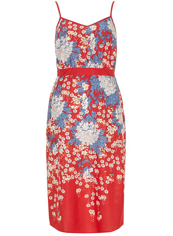 Red cami midi dress     Was £25.00     Now £22.50 click to visit Dorothy Perkins
