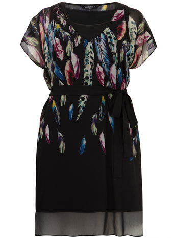 Scarlett & Jo Feather Print Tunic Dress     Price: £40.00 click to visit Evans