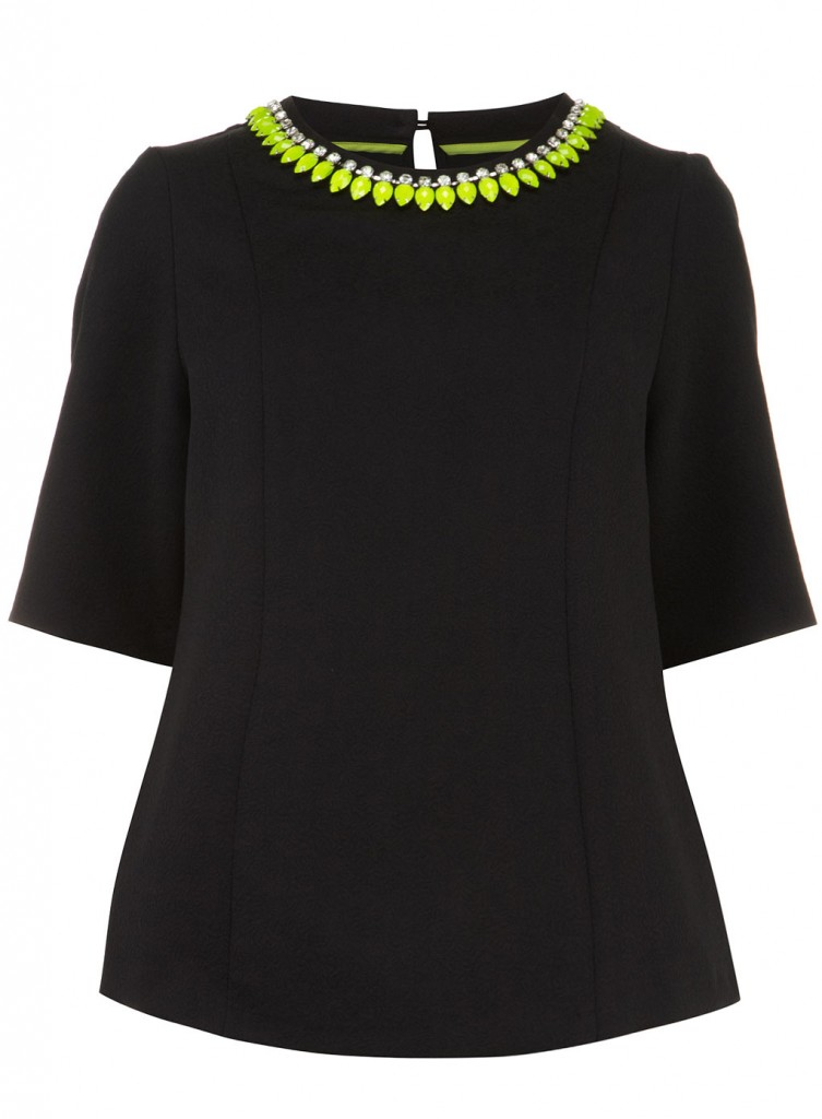 Collection Black Embellished Top     Price: £50.00 click to visit Evans