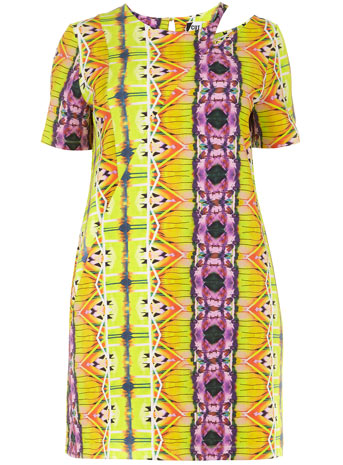 The Cut for Evans Yellow Scuba Cut Out Shift Dress     Price: £45.00 click to visit Evans