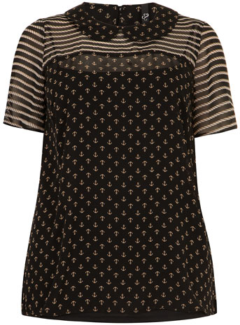 Evans Anchor Print Shell Top     Price: £37.00 click to visit Evans