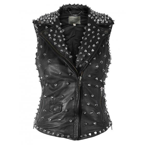 Muubaa Kate Leather Sleeveless Studded Biker £495 click to visit Muubaa