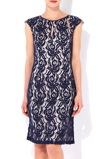 Navy Blue Lace Dress     Price: £50.00 click to visit Wallis