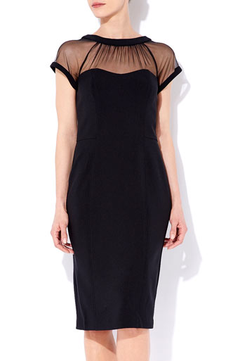 Black Mesh Top Dress     Was £55.00     Now £52.25 click to visit Wallis